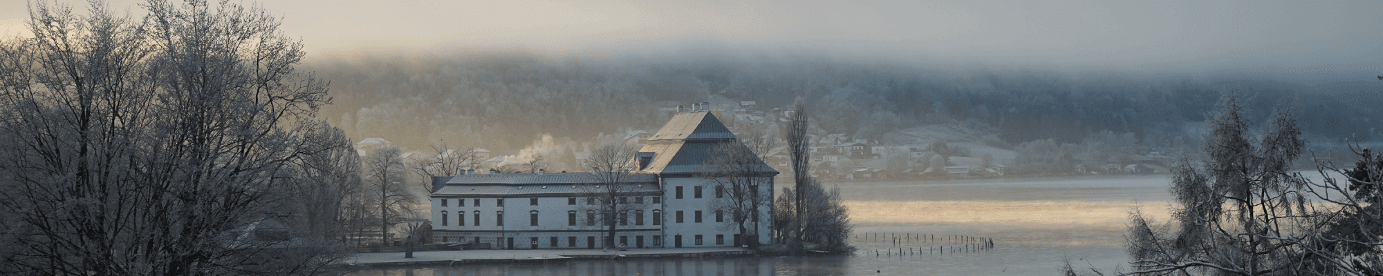 view winter hotel at attersee